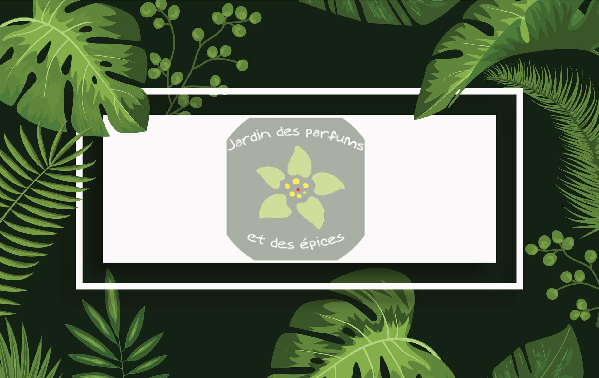 Le jardin des parfums et des épices introduction avec le logo